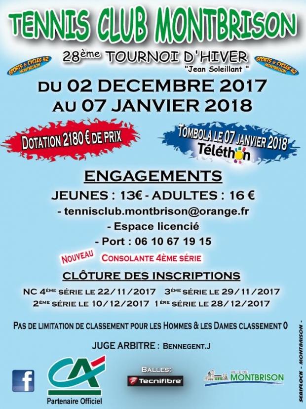 Tournoi tennis montbrison 2017/2018